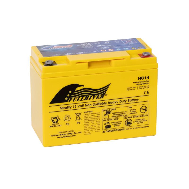 Fullriver HC15 AGM Starter-, Versorgungsbatterie 12V 15Ah 156A
