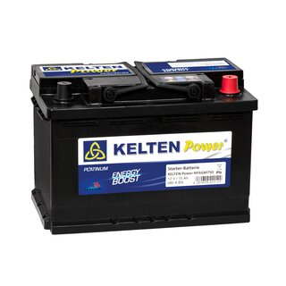 KELTEN Power® ENERGY BOOST KPAGM750  PLATINUM Starterbatterie  Start/Stop 12V 75 AH 680A   Multiuse - Batterie